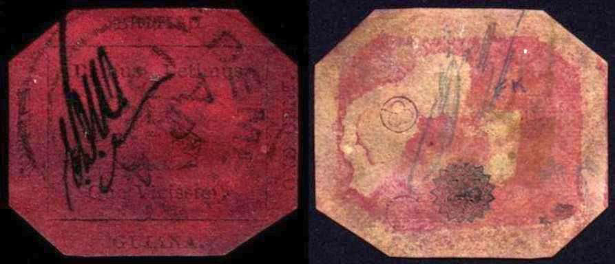 francobolli rari One Cent Black Magenta 1856